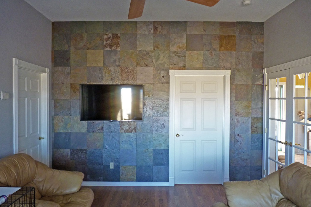 Creating A Slate Accent Wall The Easy Way