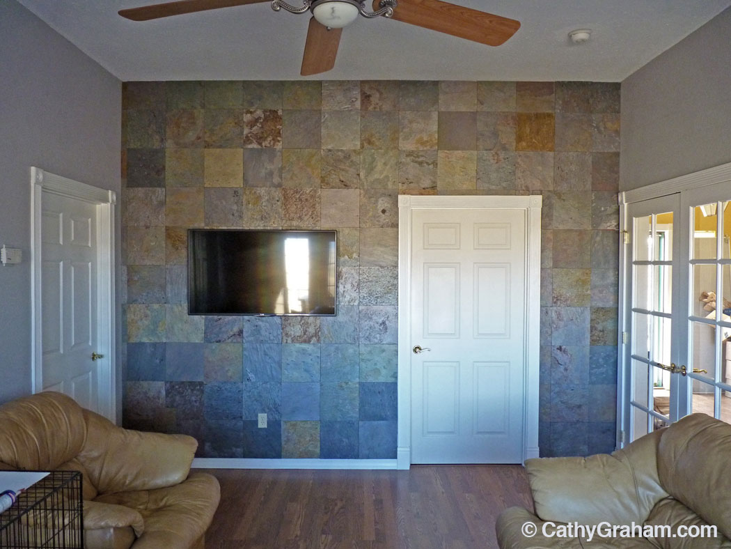 Creating A Slate Accent Wall The Easy Way Cathy Graham
